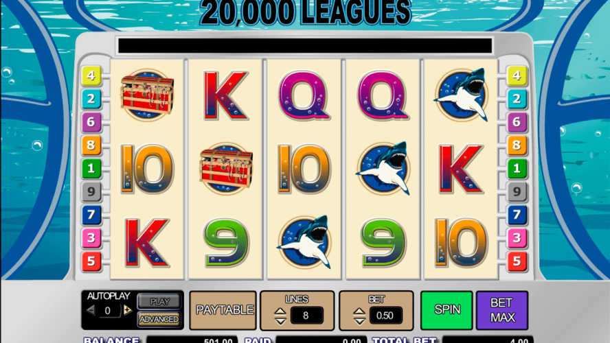 Play Amaya 20000 Leagues Online Machine Slot Overview