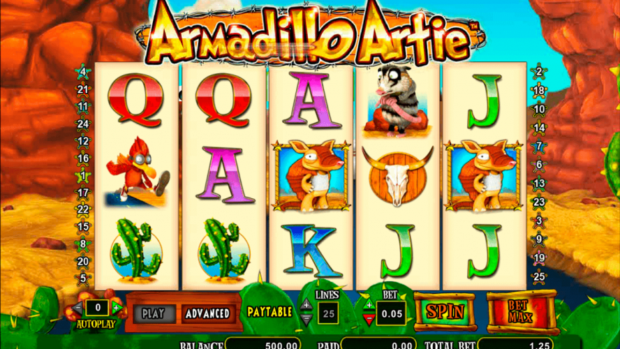 Cryptologic's Armadillo Artie Online Slot Examined in Detail