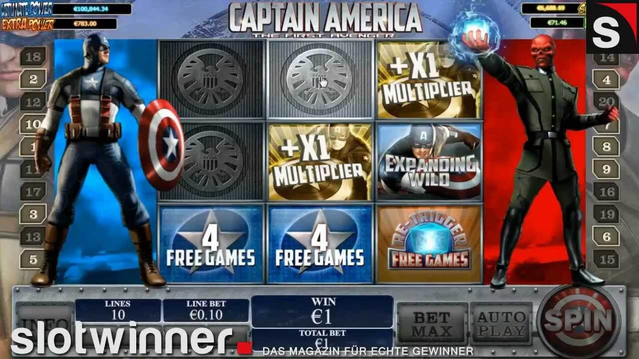 Play Free Marvel Slots Game – Captain America At Slots Machine
