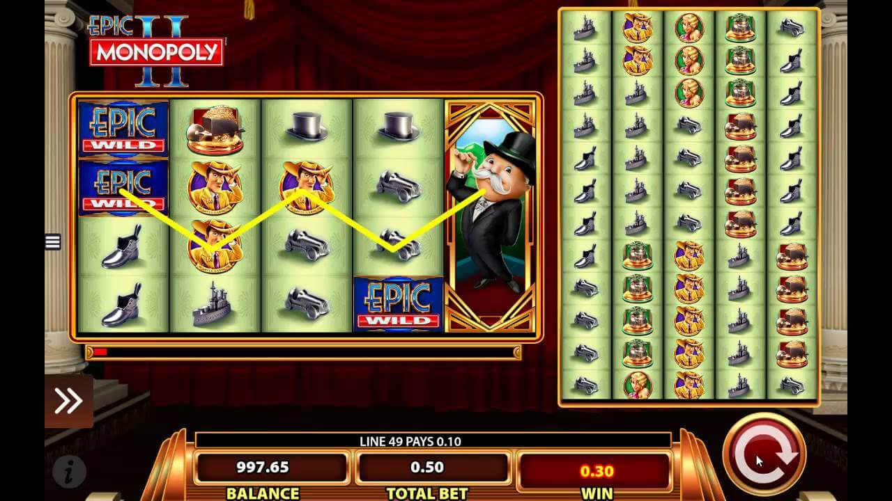 Epic Monopoly 2 Video Slots' Features Described