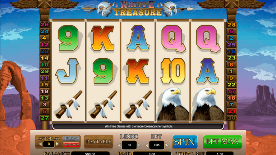 Start Playing Native Treasure Slot Machine Game