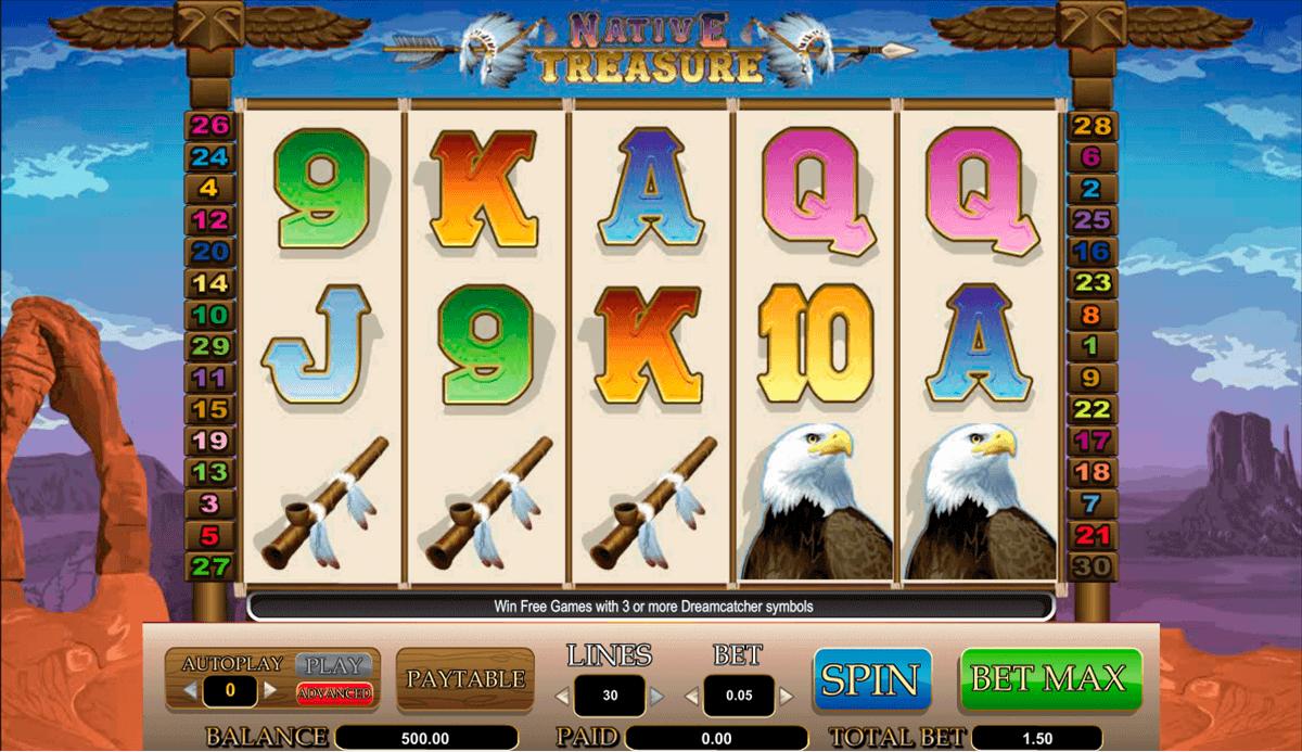 Start Playing Native Treasure Slot Machine Game