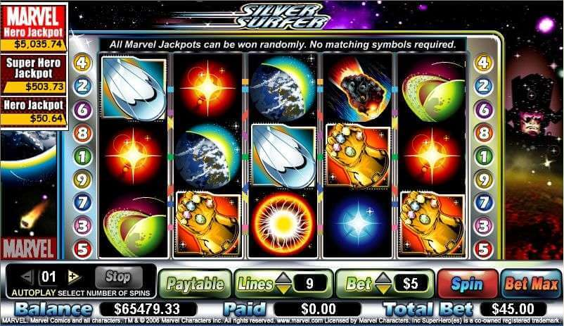 Marvel Slot Machine Fun With Silver Surfer Slot