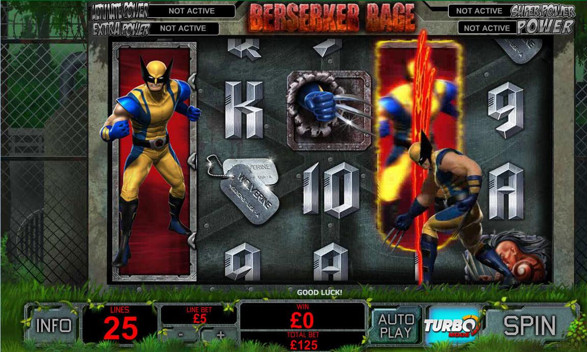 Slashing Fun With Wolverine Slot