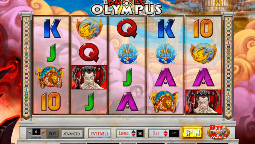All About Battle For Olympus Online Slots from Cryptologic