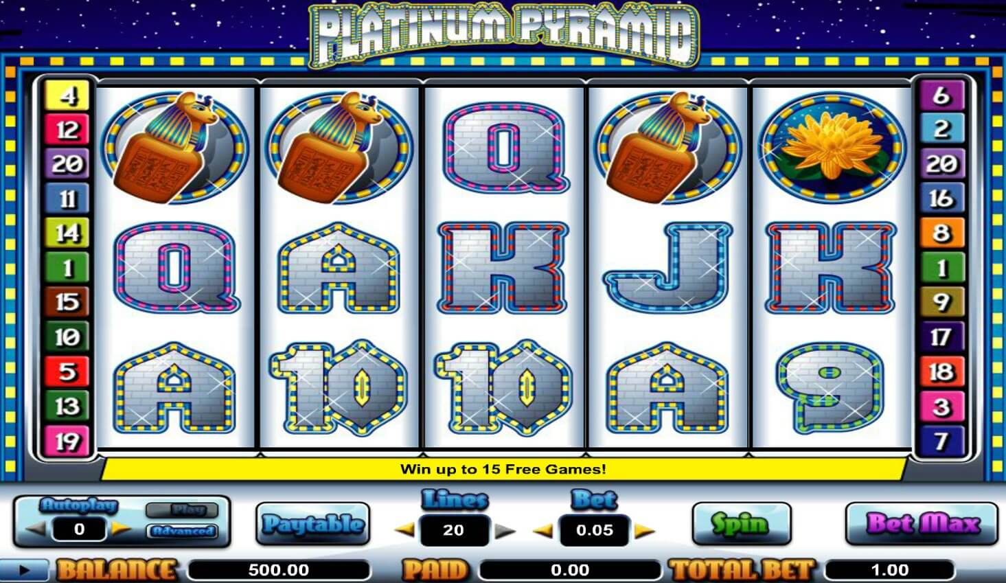 Cryptologic's Platinum Pyramid Online Slots Reviewed