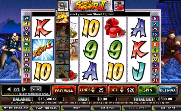 Classic Slot Machine Action With Street Fighter 2 Slot