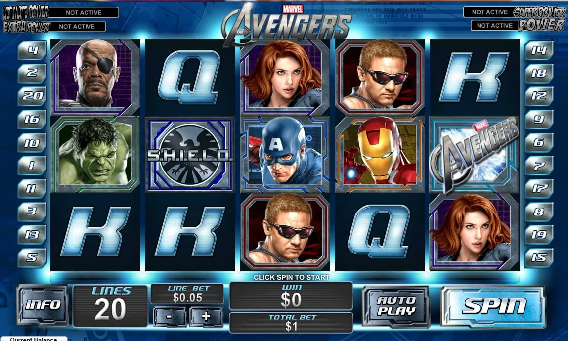 Play Anywhere The Avengers Online Slot Game From Cryptologic