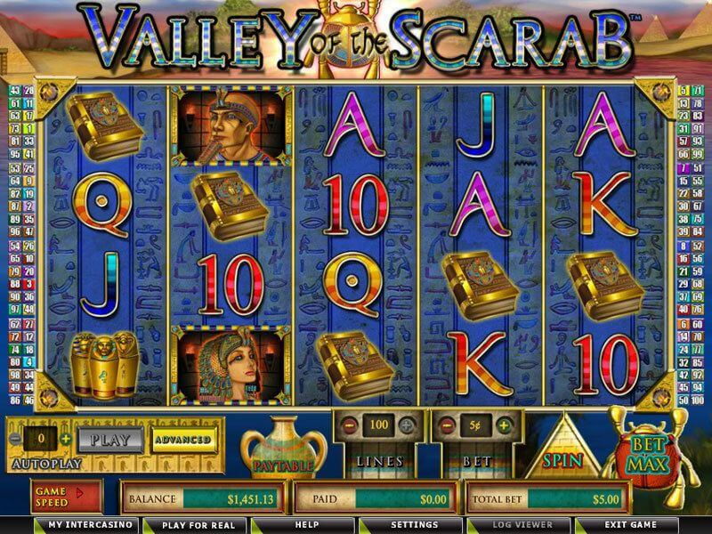 Join Valley of the Scarab Slot Game
