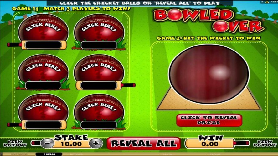 Bowled Over Slot Game Gives Great Bowling Action