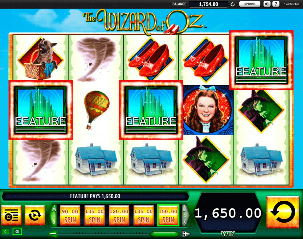 The Wizard of Oz Video Slot by WMS
