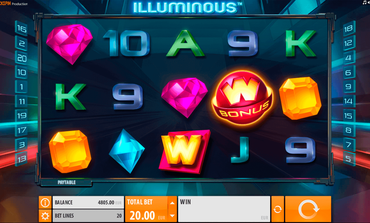 Play Illuminous Online Slots Game with a Great Guide