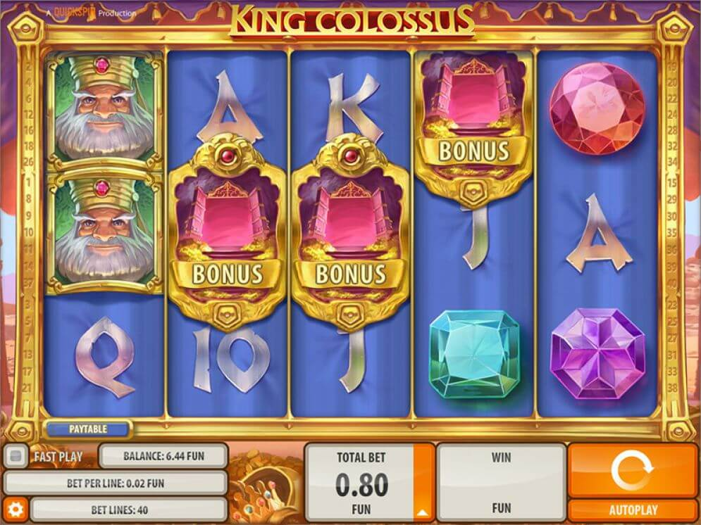 Play Free Quick Spin King Colossus Slot Game